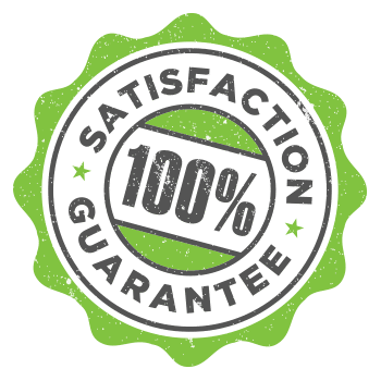 100% satisfaction guarantee badge