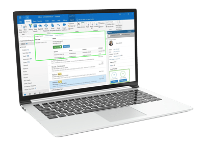 Email marketing software on laptop