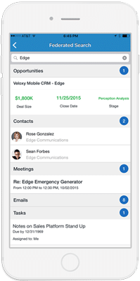 screenshot of Veloxy's AI sales Assistant on iPhone