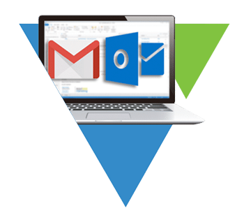 icon for Veloxy AI Sales Assistant Software with Gmail and Outlook logos