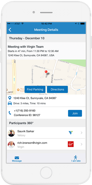 screenshot of Veloxy's Geolocation software on iPhone