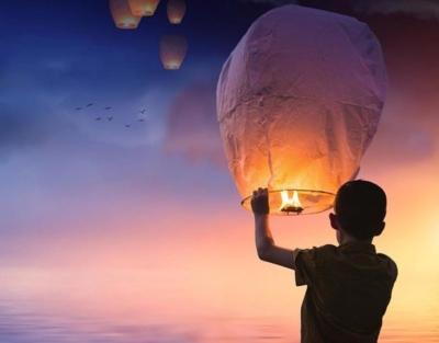 photo of a chinese lantern