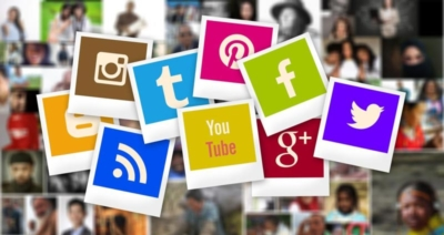 image of social media icons used by outside sales reps