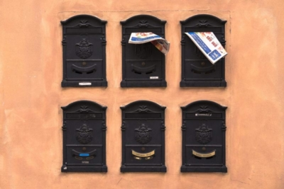 photo of six mailboxes