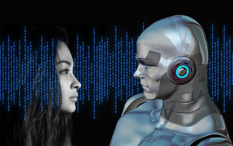 image of a human and artificial intelligence