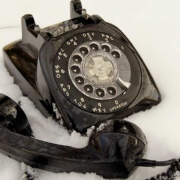 photo of a phone used for cold calling
