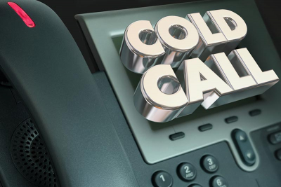 image of cold calling phone