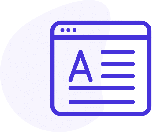icon for sales ebooks, case studies, and blogs