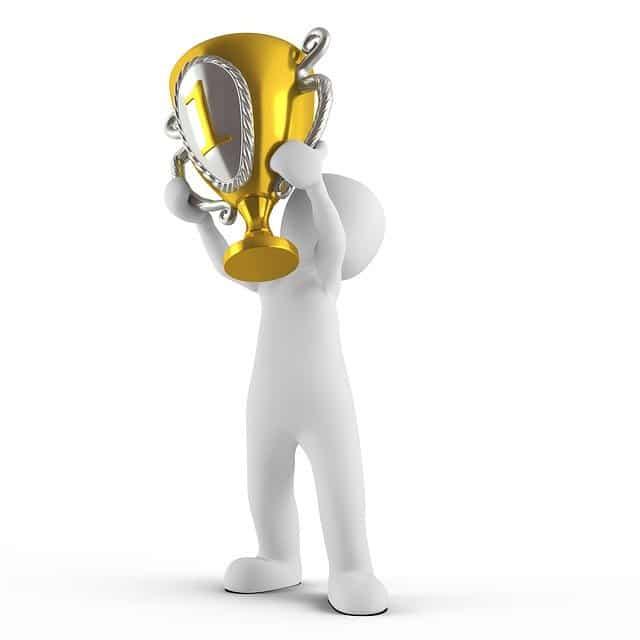 cartoon of a winning sales enablement team