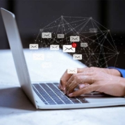 photo of someone using email tracking software