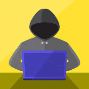 illustration of a hacker