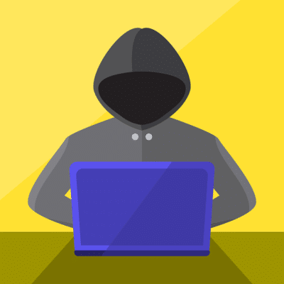 illustration of a hacker