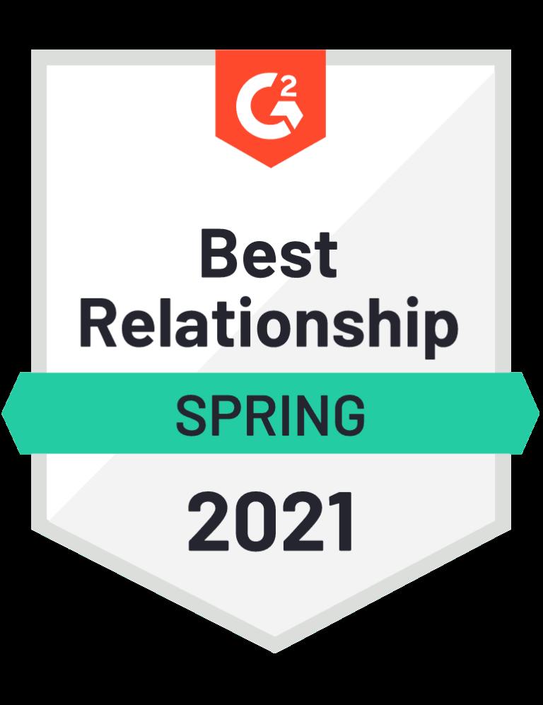 g2 best relationship badge