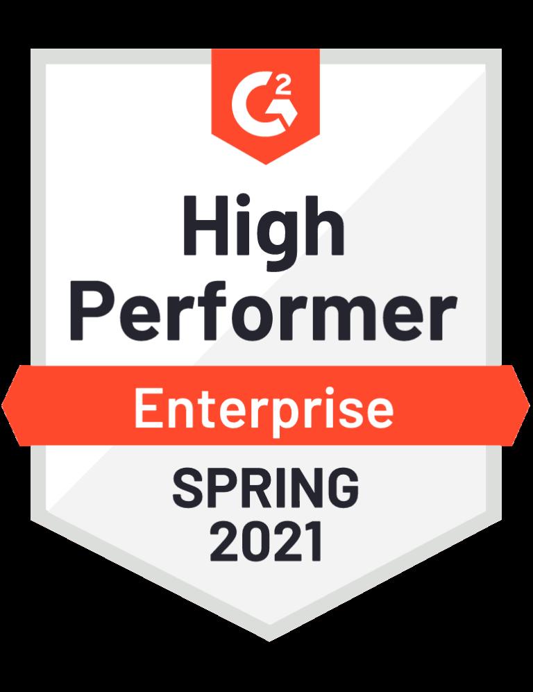 g2 high performer enterprise badge
