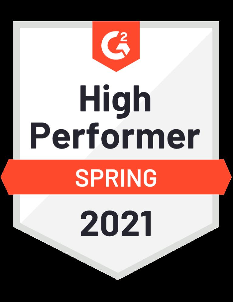 g2 high performer spring badge