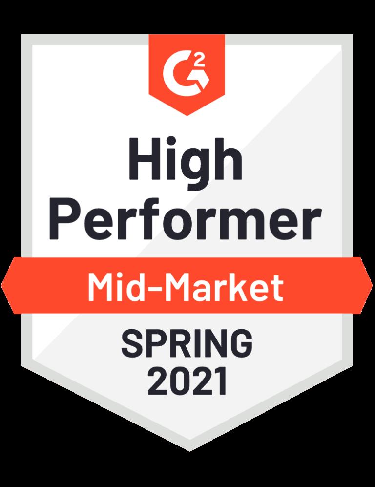 g2 high performer mid-market badge