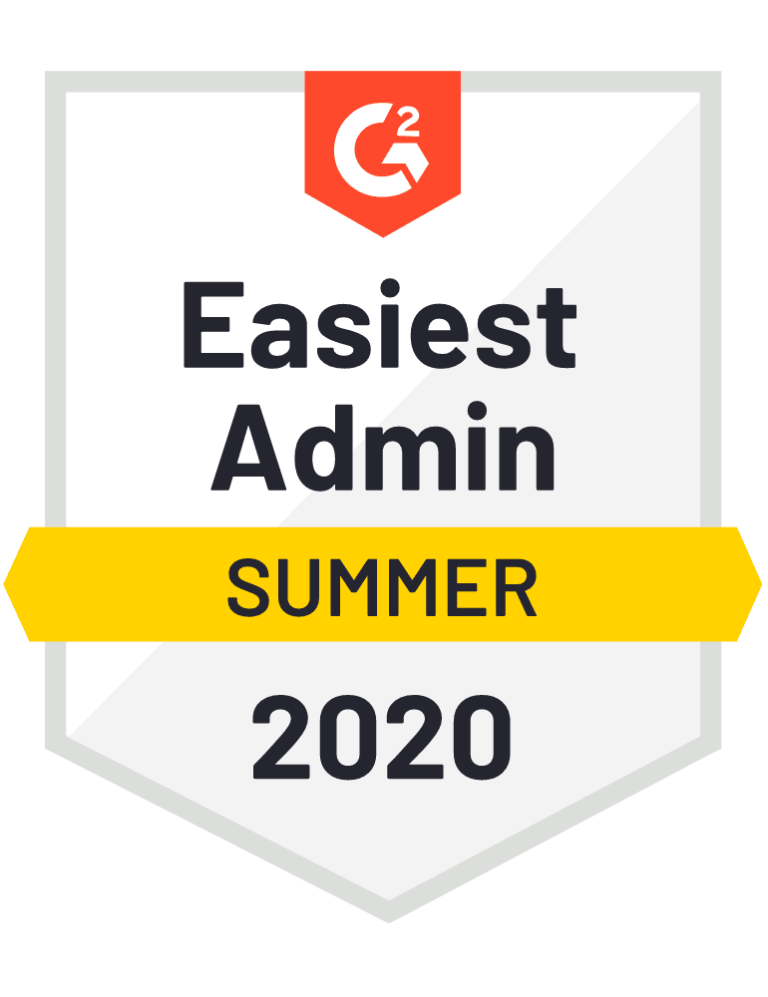 g2 easiest admin summer badge
