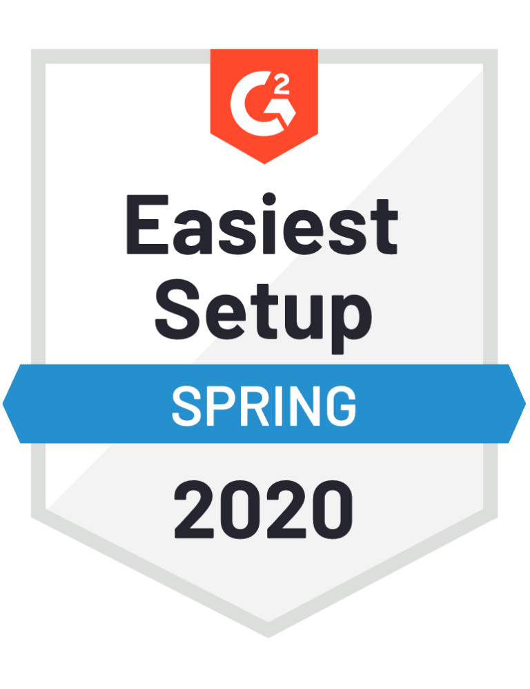 g2 easiest setup badge