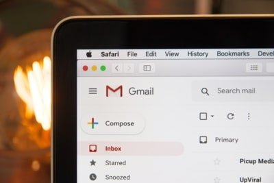 photo of a Gmail inbox